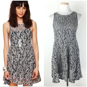 Free People Size XS Miles of Lace Skater Dress